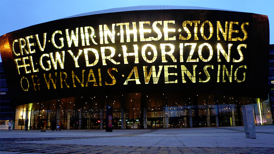 Outside of Wales Millennium Centre