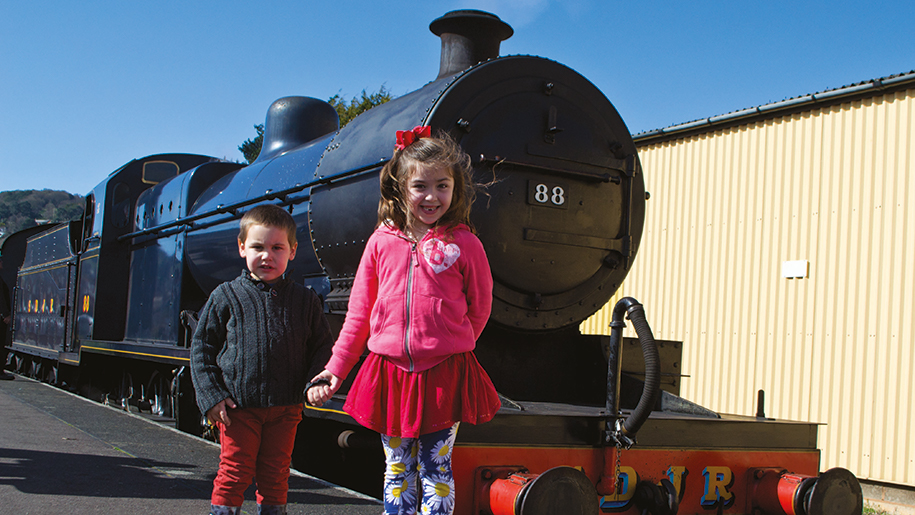 West Somerset Railway kids and train