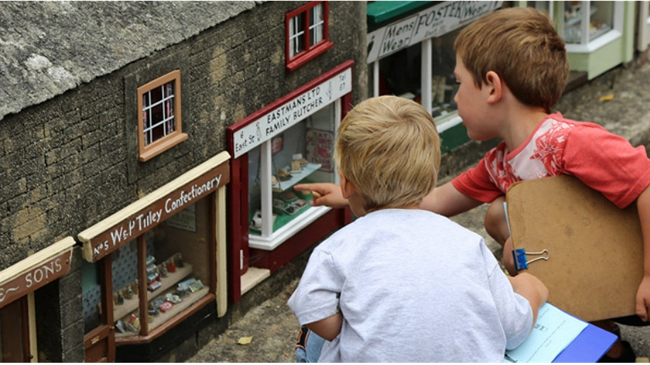 boys in model village
