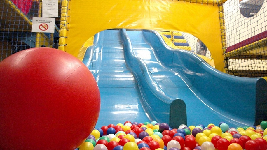 soft play slide and ball pit