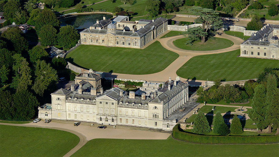 Ariel view of Woburn Abbey and Gardens