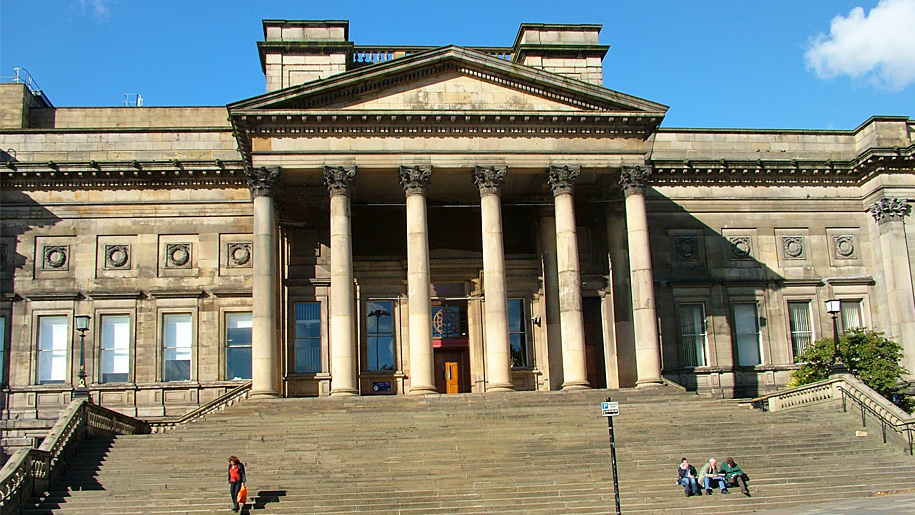 exterior and steps of museum