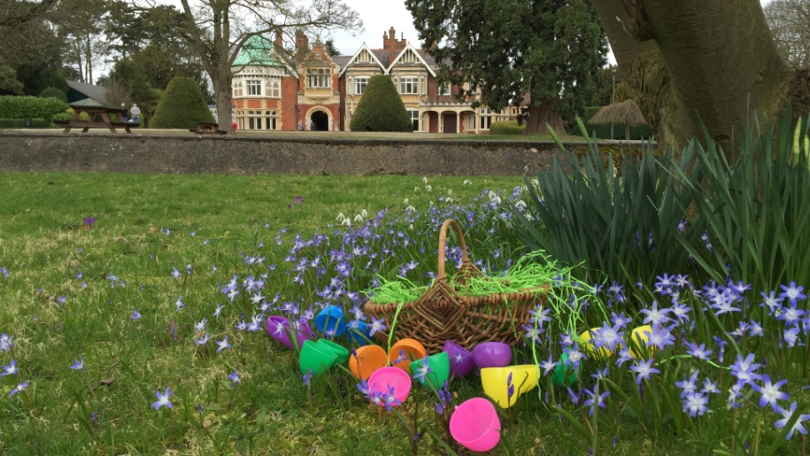 Bletchley Park outside grounds and easter eggs
