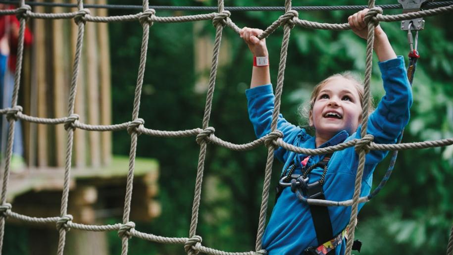 Go Ape child climbing