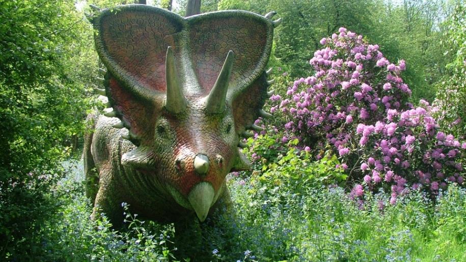 Dinosaur at Knebworth House Gardens