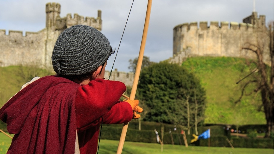 arundel castle boy with bow and arrow