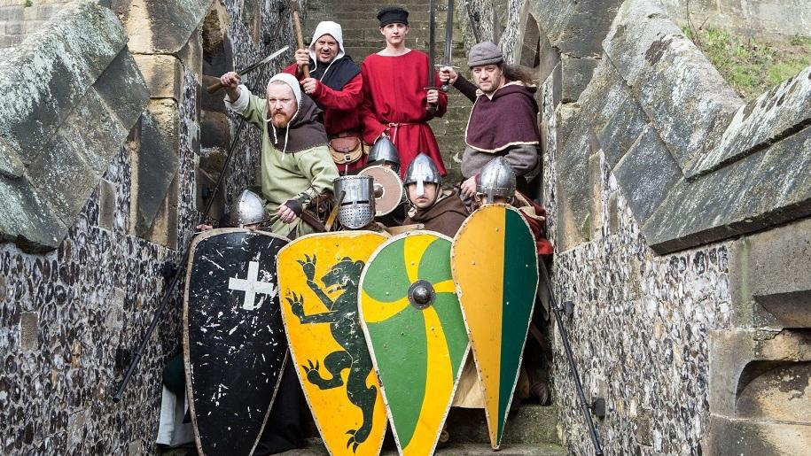 arundel castle knights dressed up