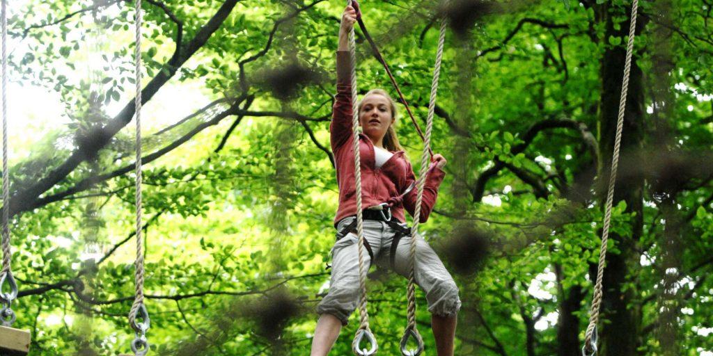 Go Ape child in tree
