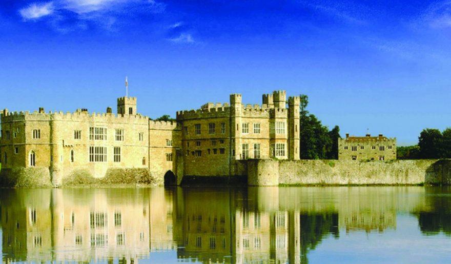 Leeds Castle lake and castle