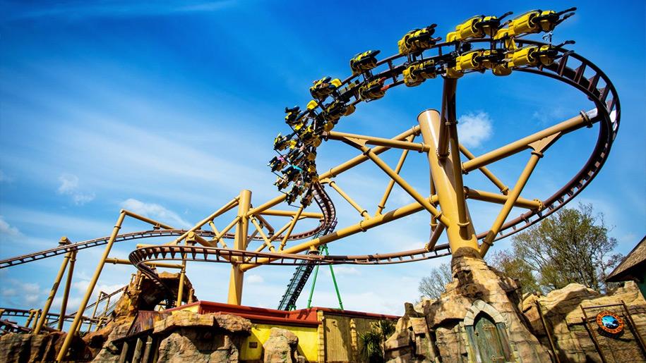 Paultons Park roller coaster