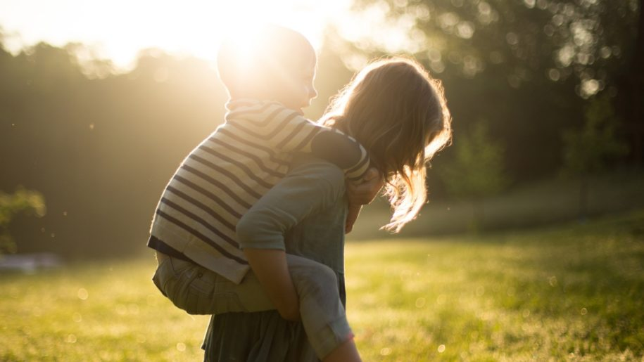 children in sunshine