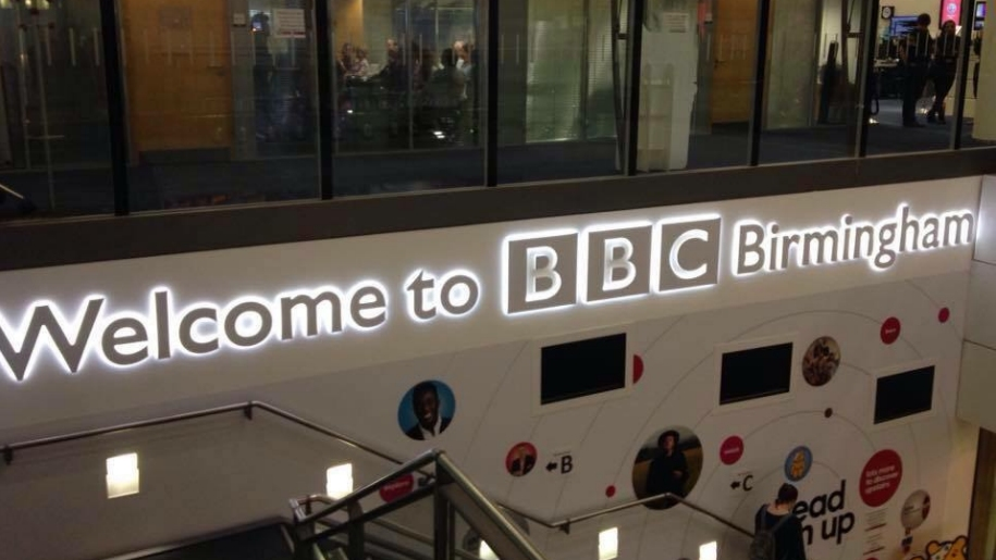 inside BBC studios Birmingham