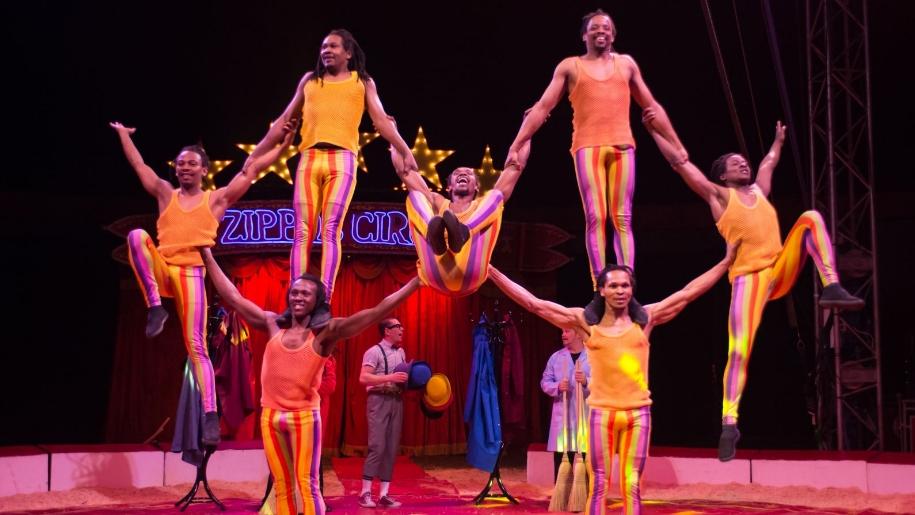 Acrobats at circus