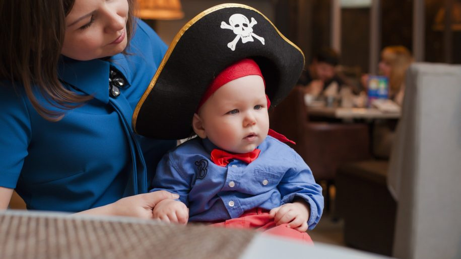 baby dressed as pirate