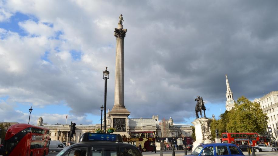 Trafalgar square and traffic