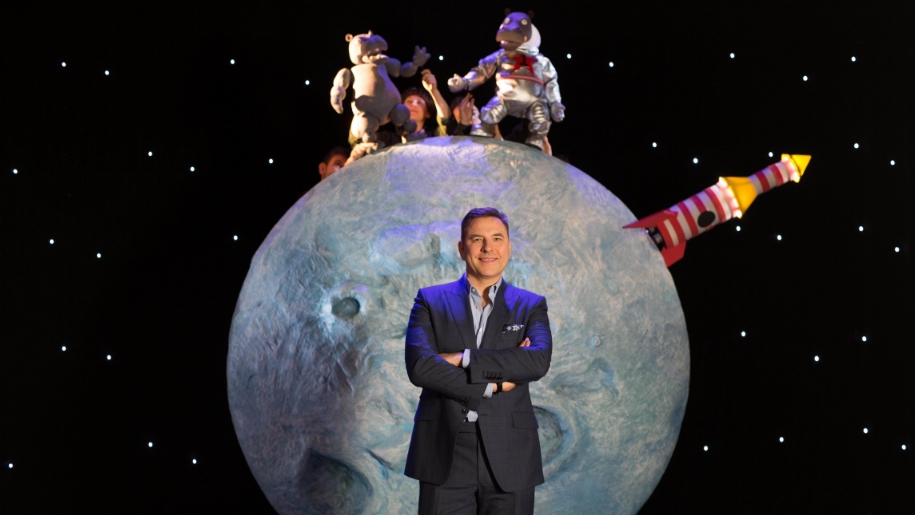 David Walliams and hippo on the moon
