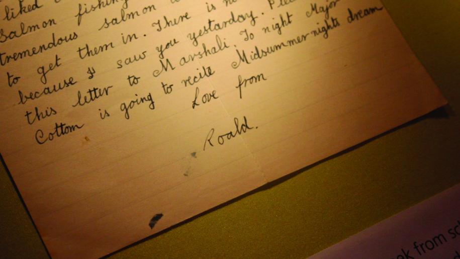 roald dahl letter