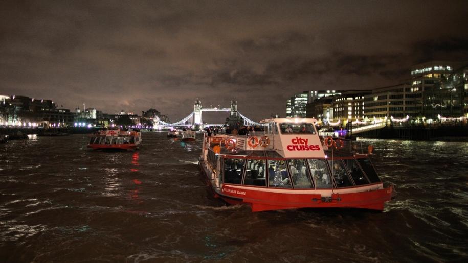 City Cruises boat at night