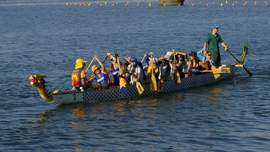 group in dragon boat