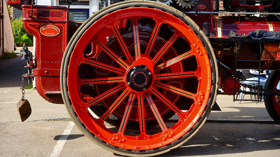 wheel of steam engine