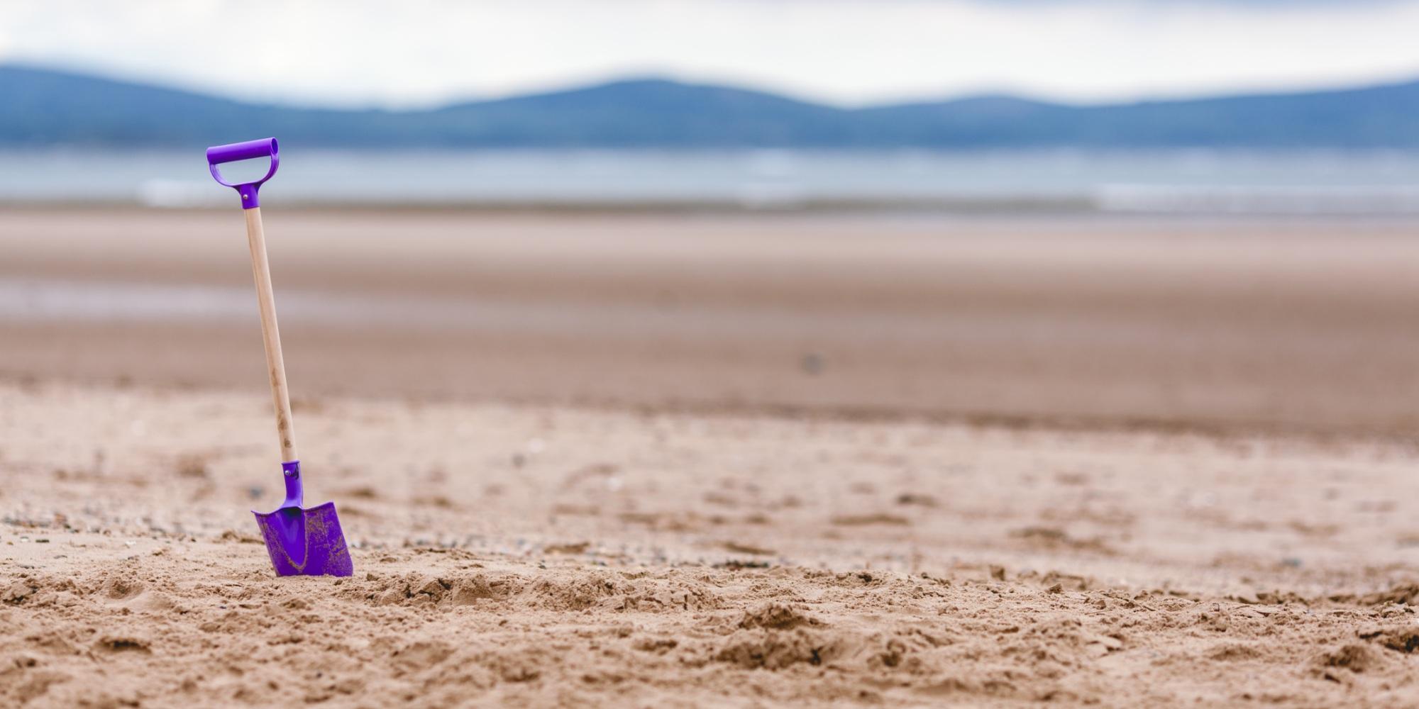 spade on beach