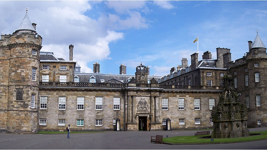 front of palace of holyroodhouse