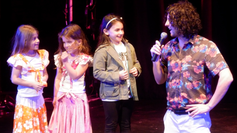 Children on stage at G Live