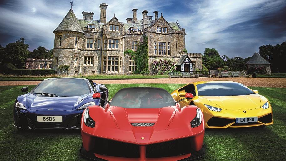 super cars at Beaulieu