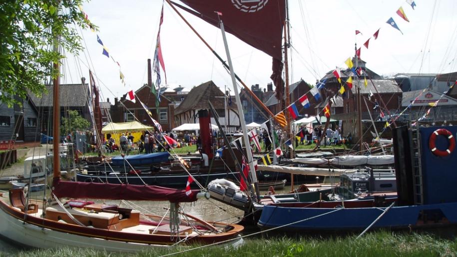 Faversham Nautical Festival boats