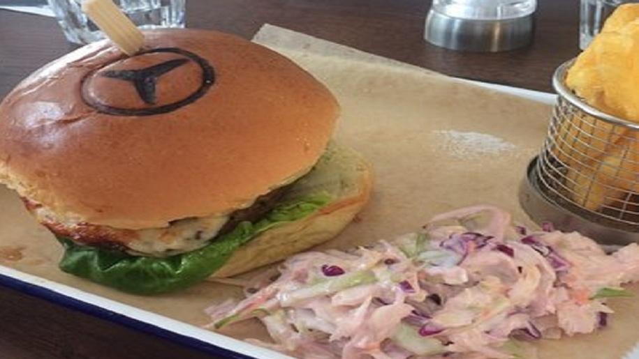 Branded Mercedes burger