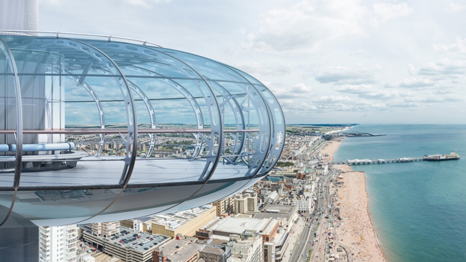 British Airways i360 tower Brighton beach