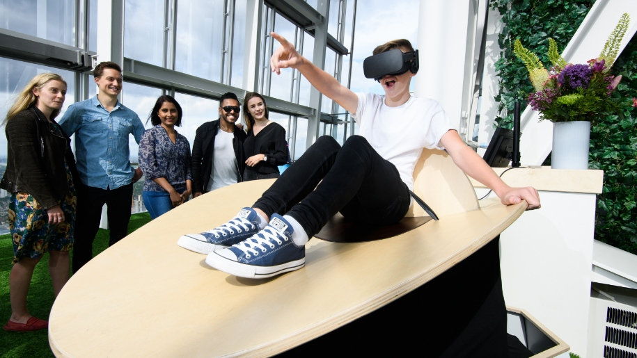 child enjoying a VR experience