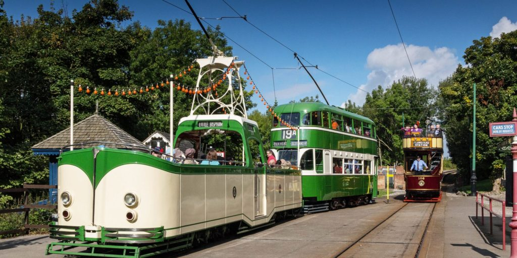 Trams in Crich Tramway Village