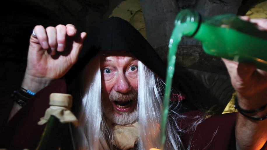wizard making potions at Oxford Castle