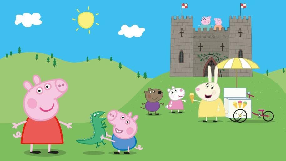 cartoon image of peppa pig