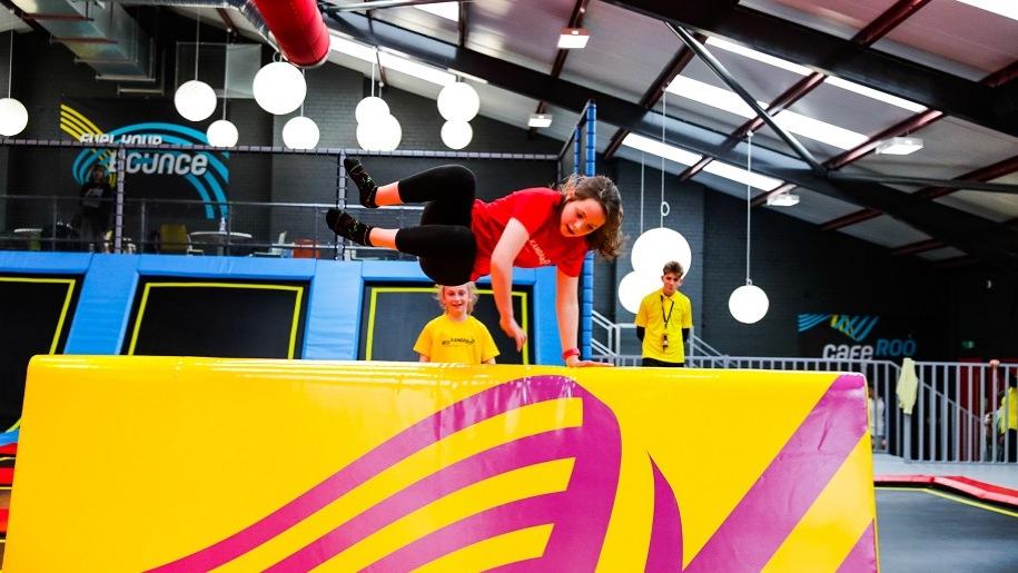 girl bouncing at Red Kangaroo