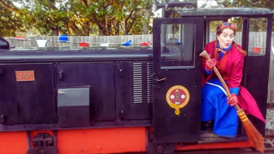 train and witch at Whistlestop Valley