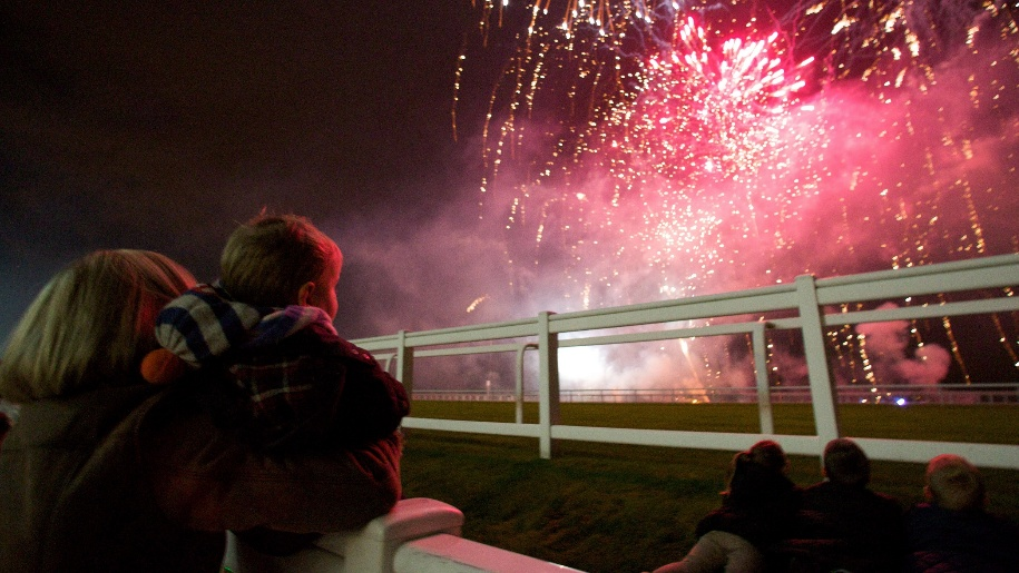 kids watching fireworks at ascot