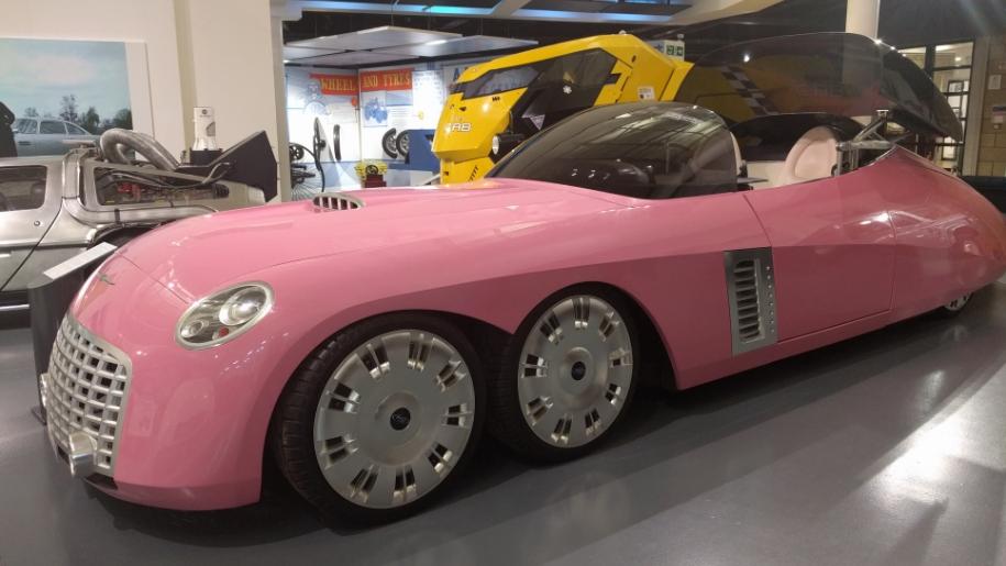 British Motor Museum pink car