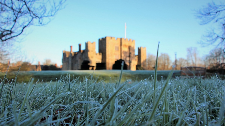 hever castle in winter