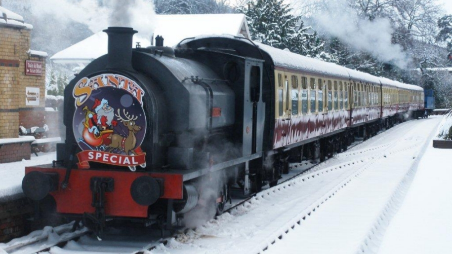 steam train snow