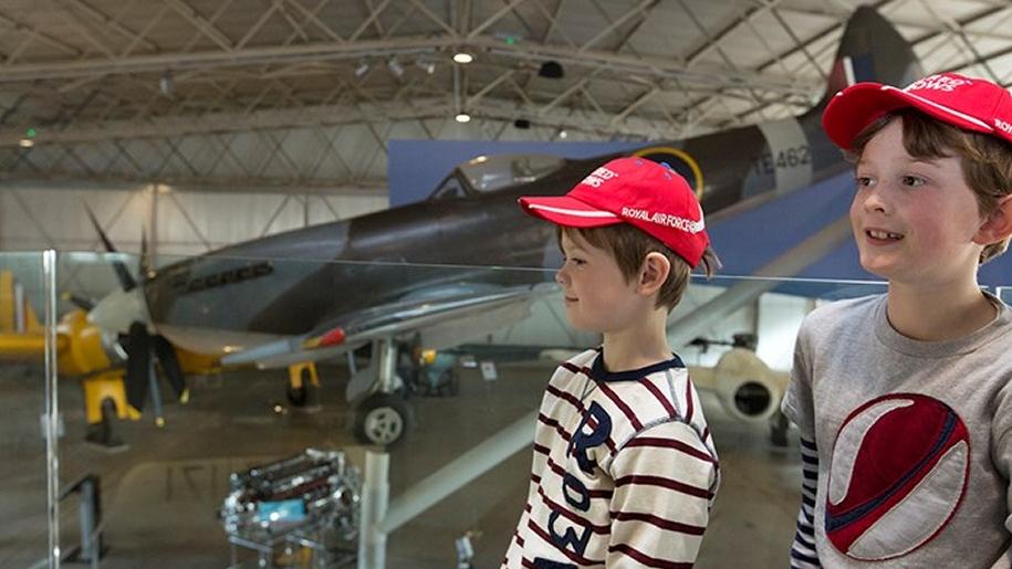 boy with aeroplane