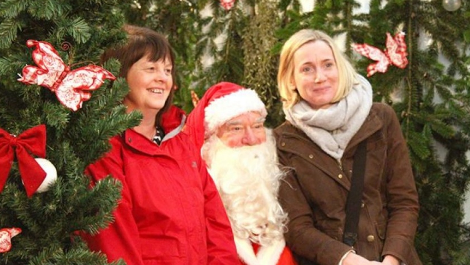 women with santa