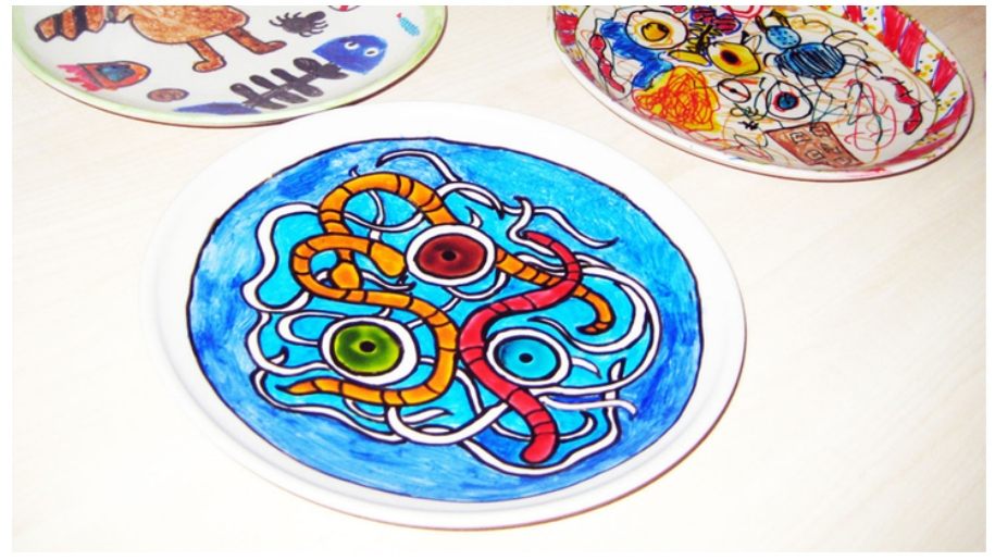 Roald Dahl Museum plates