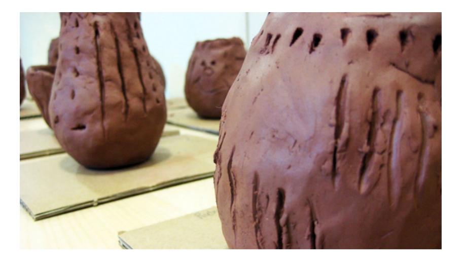 Roald Dahl Museum clay pots