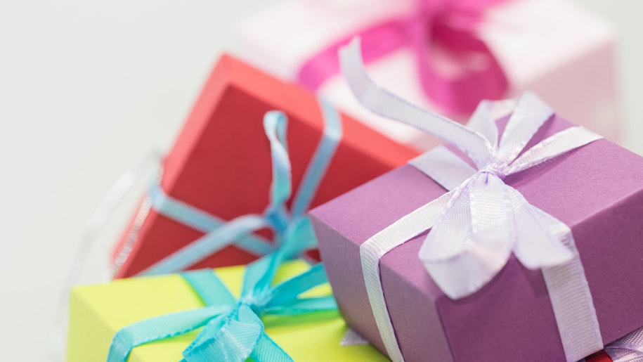 colourful presents