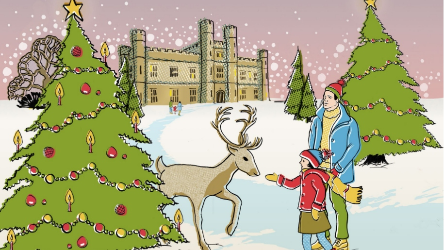 leeds castle christmas scene