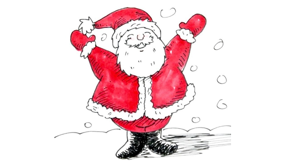 drawing of santa