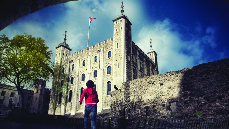 boy outside tower of london