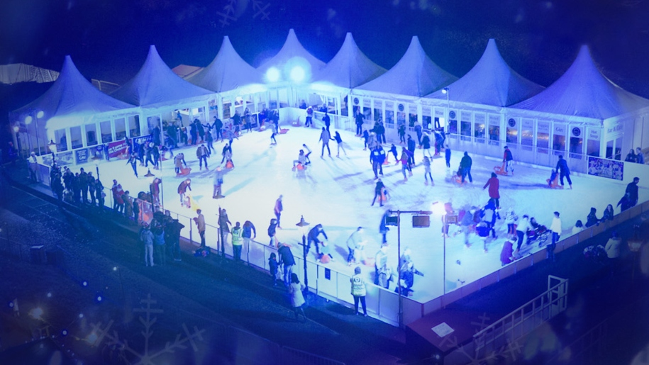 ice skating at night